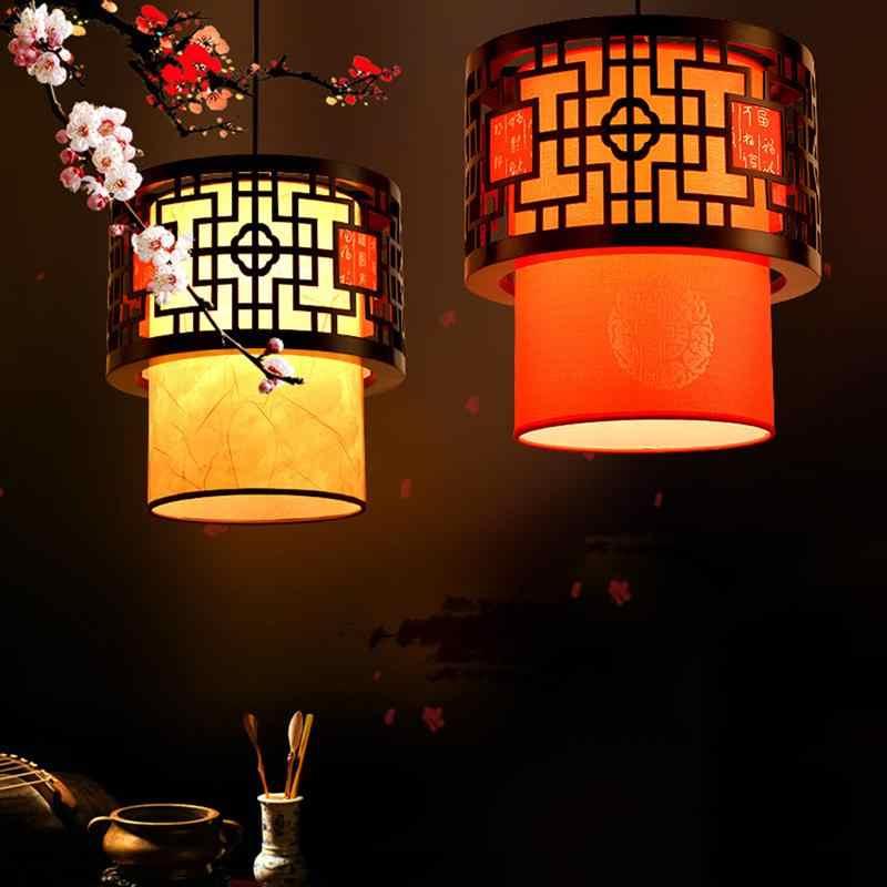 Oriental Retro Hotel Chinesischen Stil Laterne Anhänger Licht Klassische Lampen Mit Birne Innen Beleuchtung