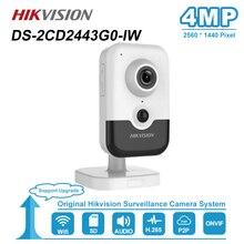 Hikvision 4MP Fixe Cube HD Audio Wifi IP Caméra PoE Onvif Accueil/Extérieur Vidéo de Sécurité CCTV Nuit Surveillance Vision caméras