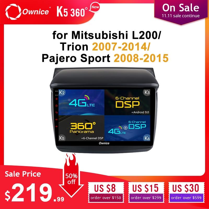 Lecteur DVD de voiture Ownice Android 9.0 pour Mitsubishi L200/Trion 2007-2014/Pajero Sport 2008-2015 voiture Audio stéréo GPS Navigation