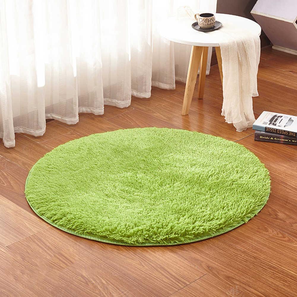 Flauschigen Runden Teppich Teppiche für Wohnzimmer Decor Faux Pelz Teppiche Kinder Zimmer Lange Plüsch Teppiche für Schlafzimmer Shaggy Teppich moderne Matten