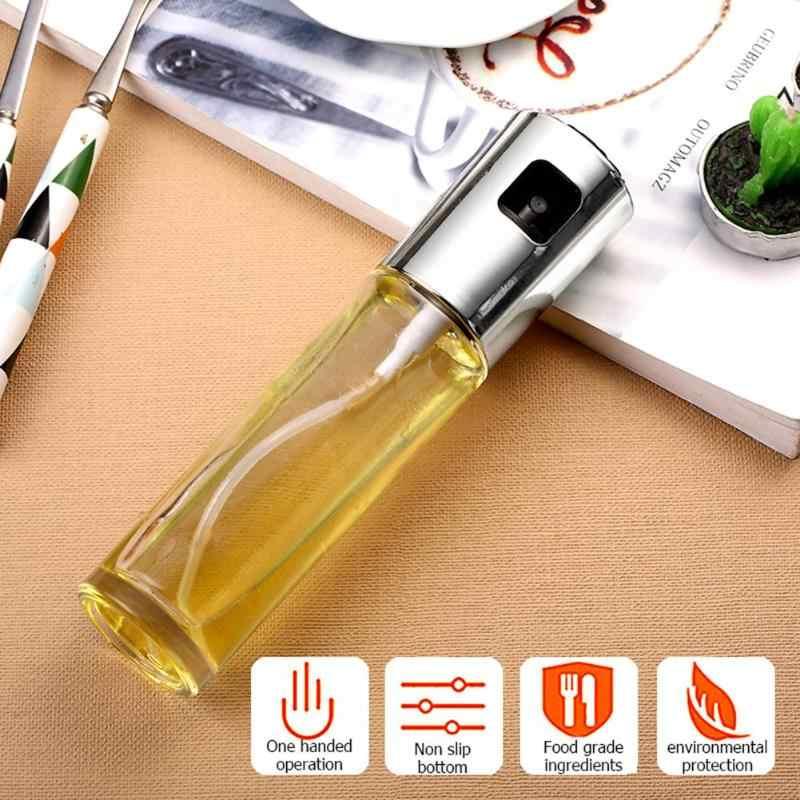 100 ミリリットルステンレス鋼オリーブオイル噴霧器オイルスプレーボトルガラスオイルポット漏れ防止滴オイルディスペンサーバーベキューキッチン調理ツール