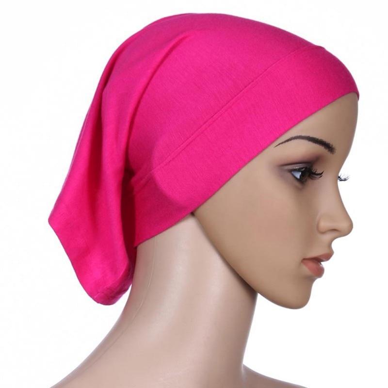 Under Scarf Hijab Tube Bonnet Cap Bone Islamic Women's Head Cover