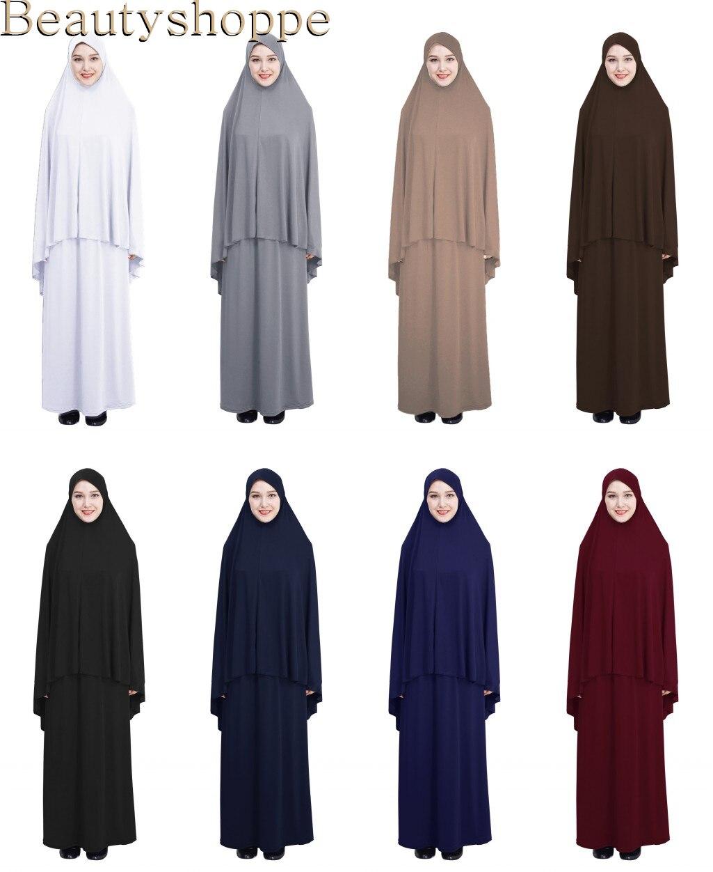 Женское мусульманское платье для молитвы, длинный шарф Niquab, химар хиджаб, ислам