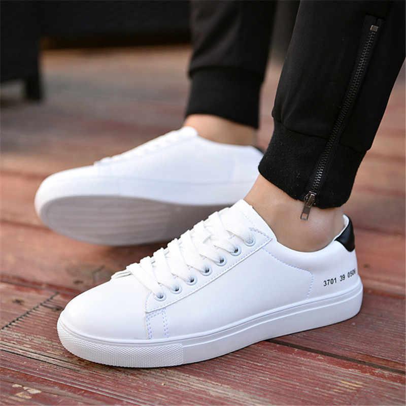 Bahar Moda Erkekler Vulkanize Ayakkabı Marka Beyaz Sneakers erkek ayakkabısı Açık Yürüyüş Erkek Ayakkabı Yetişkin Nefes Erkekler rahat ayakkabılar