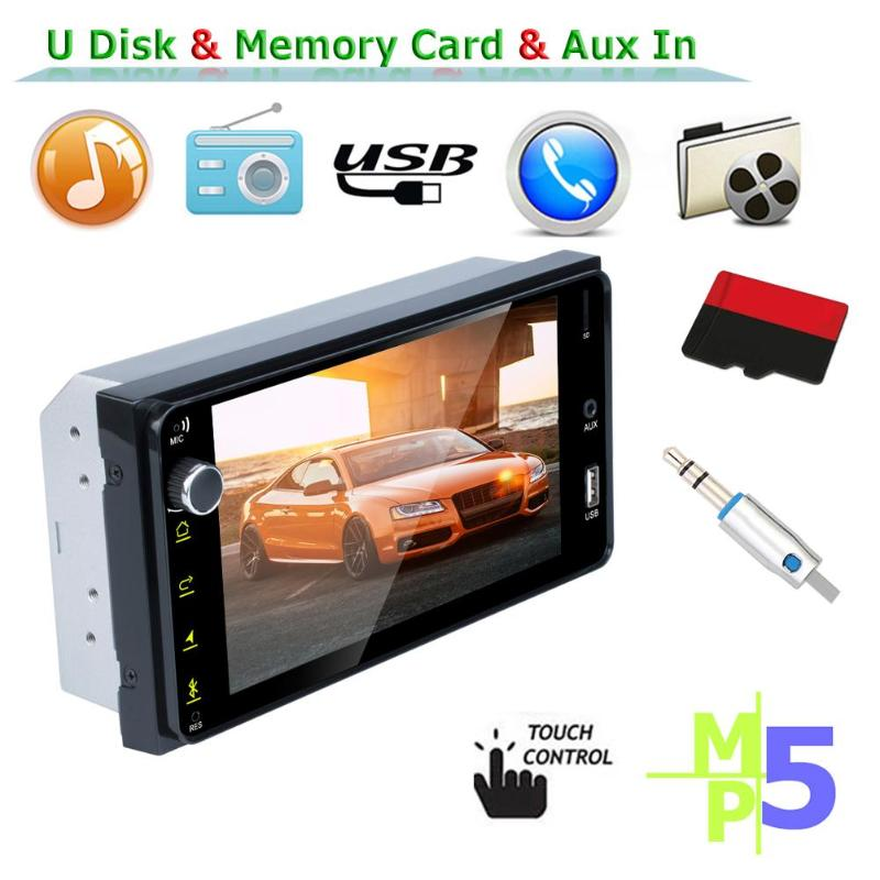 RK-7180 MP5 Player 7 inch <font><b>2</b></font> <font><b>DIN</b></font> Touch Screen USB Car Stereo FM Radio Bidirectional RCA Audio Output Function for Toyota image
