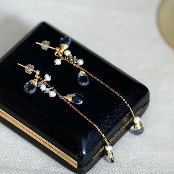 SINZRY hotsale elegant handmade freshwater pearl waterdrop tassel drop earrings female orginal creative jewel for women