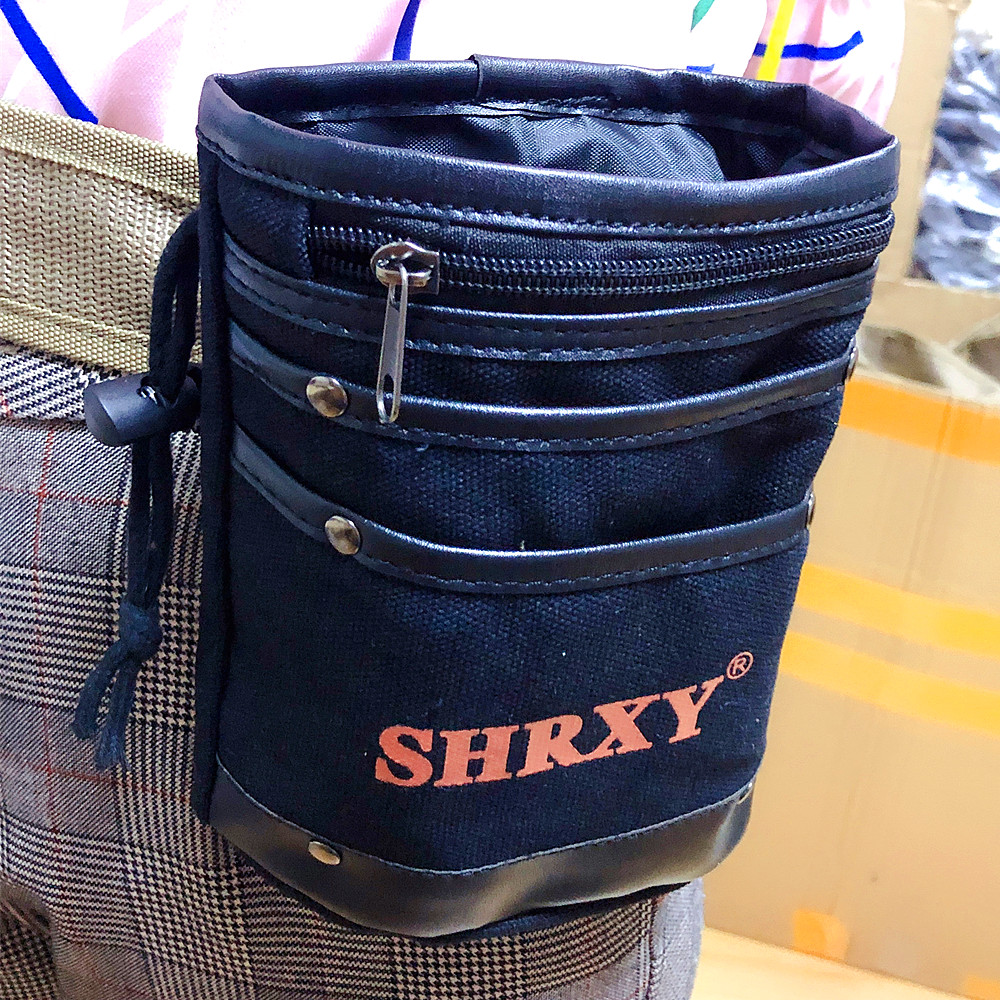 SHRXY Metal Detector Drawstring Digger's Pouch And Trowel Combo Recycling Bag Pick Up Small Tool Bag For Metal Detecting