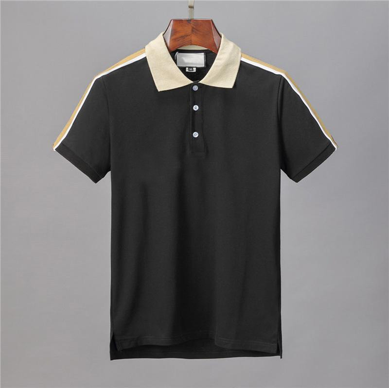 Рубашка-поло мужская с коротким рукавом, хлопок, Повседневная Деловая дышащая, с принтом, лето 2021