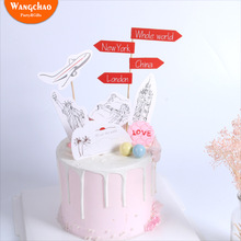 Im Going To Travel Theme Cake Topper Happy Birthday Decoration Party Supplies Kids Adult Favors