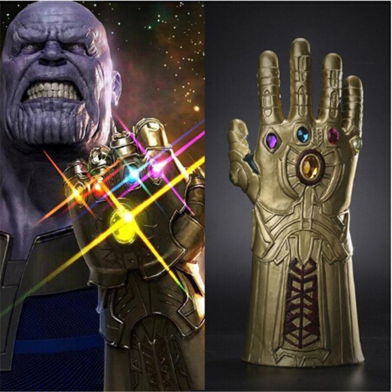 Thanos Guantelete del Infinito vengadores Infinity War guantes Cosplay superhéroe vengadores guante de Thanos fiesta de Halloween accesorios de lujo Venta al por mayor tallado antiguo mano de madera manivela Star Wars Juego del trono caja de música regalo de Navidad Fiesta ataúd anonimato Decoración