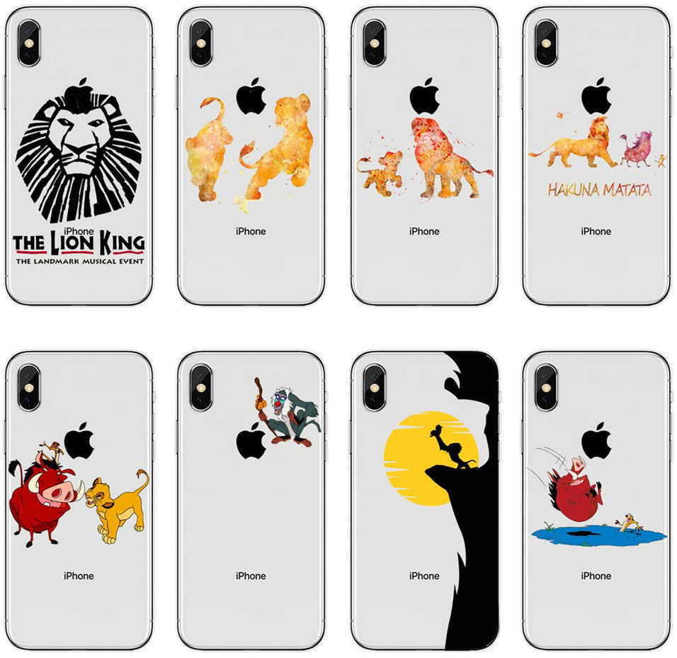For iPhone X 10 XR XS MAX The Lion King Simba Cute cartoon Soft ...