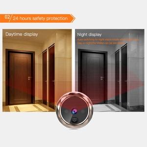 Image 3 - 2.8 بوصة LCD اللون شاشة جرس الباب الرقمي مستشعر حركة بالأشعة تحت الحمراء طويلة الاستعداد للرؤية الليلية HD كاميرا في الهواء الطلق جرس الباب
