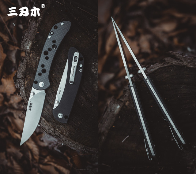 SanRenMu 9165 Pocket Folding Knife Fold 12C27 Steel Rescue Survival Tool Outdoor Camping EDC Mini Tactical  Huinting knife CS GO