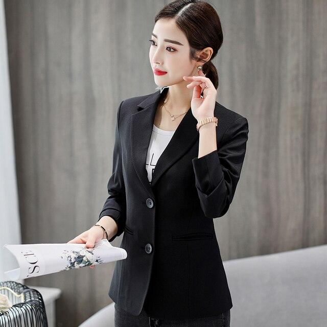 Blazer et vestes blanc et noir pour femme, vêtement automne-hiver, à Double bouton, à la mode, printemps