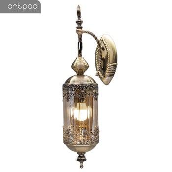 Artpad Vintage Nordic Wall-Sconces Led Loft Lamp Fixture Bedside Home-Lighting Retro Resaturant Bar Hotel E27 Wall Lamp Luminary
