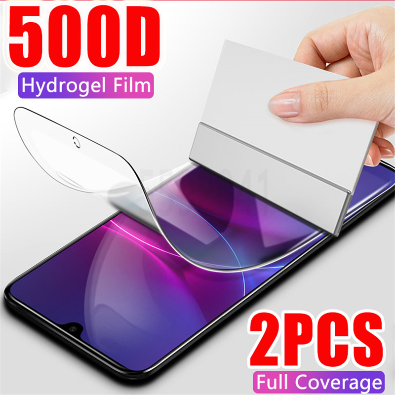 500D Full Cover Hydrogel Film Screen Protector For Samsung Galaxy A50 A70 A10 A20 A30 A40 A20E A80 A90 M10 M20 M30 Not Glass