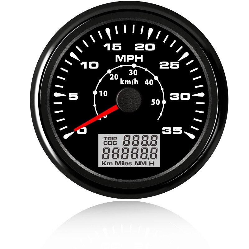 85mm 60 MHP Waterproof GPS Chrome Speedometer Gauge Odometer for Boat