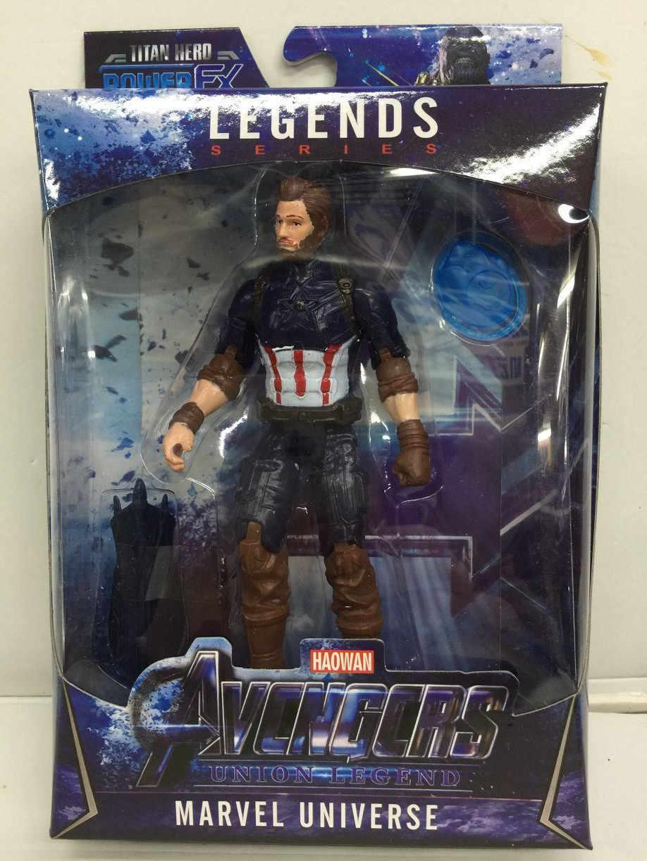 Figuras de acción de Thanos, Los vengadores de Marvel LED nuevo para niños, de marvel Capitán América, Thor, Iron Man, Spiderman, Hulk, modelo de los vengadores, figuras de juguete