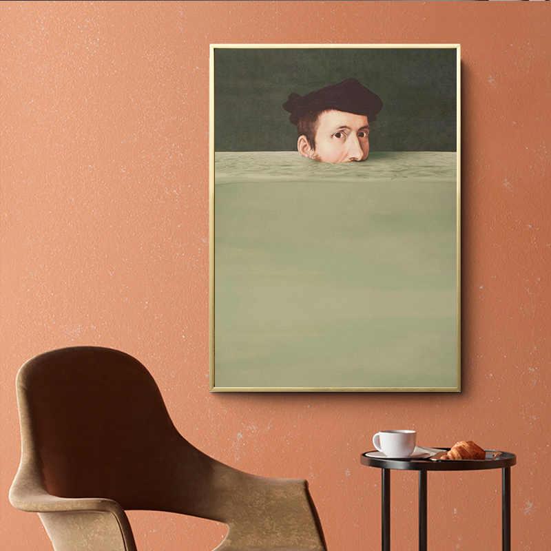 الشمال مجردة handtie شخصية الملونة قماش اللوحة Vintage المشارك طباعة ديكور صور فنية للجدران لغرفة المعيشة غرفة نوم
