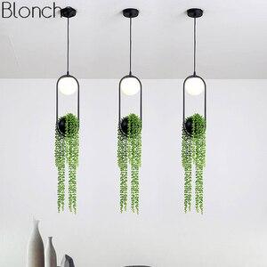 Lampe suspendue pour salle à manger, luminaire nordique de plantes en forme de pendentif, jardin en ciel, Pot de fleurs, lampe suspendue, luminaires de Restaurant, décoration de la maison