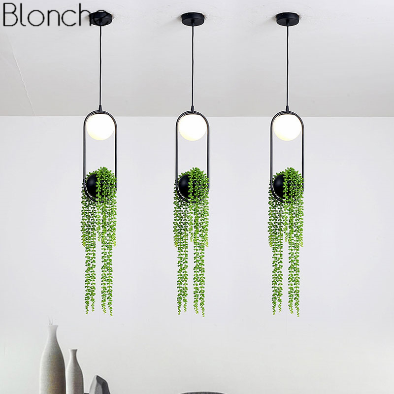 Nordic DIY Plant Pendant Lights Skygarden Led Lamp Flower Pot Hanging Lamp Dining Room Restaurant Lighting Fixtures Home Decor