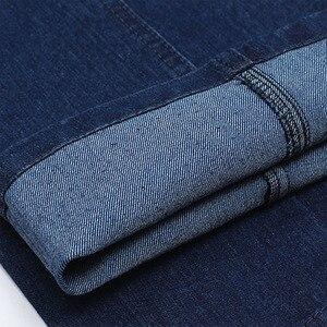 Image 5 - Nuovo Arrivo di Stirata Dei Jeans per Gli Uomini di Autunno della Molla di Sesso Maschile Casual Cotone di Alta Qualità Regular Fit Denim Dei Pantaloni Blu Scuro Baggy pantaloni