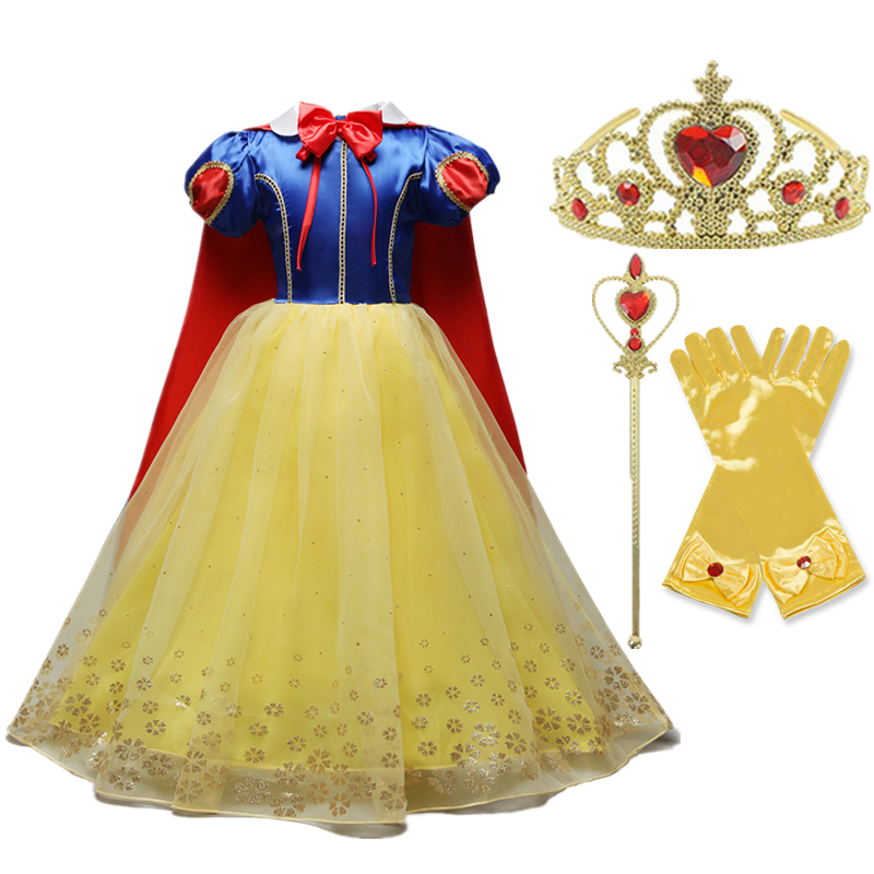 Girls Princess Costume For Kids Halloween Party Cosplay Dress Up Children Disguise Fille 2