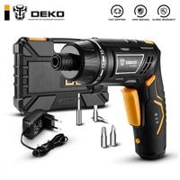Destornillador eléctrico inalámbrico DEKO DCS3.6DU2 con mango giratorio y linterna LED