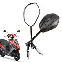 8mm 10mm Universal Elektrische Motorrad Rückspiegel, Für SUZUKI Haojue EQ ER HJ125T 18G 18H, rückansicht Spiegel Rückseite