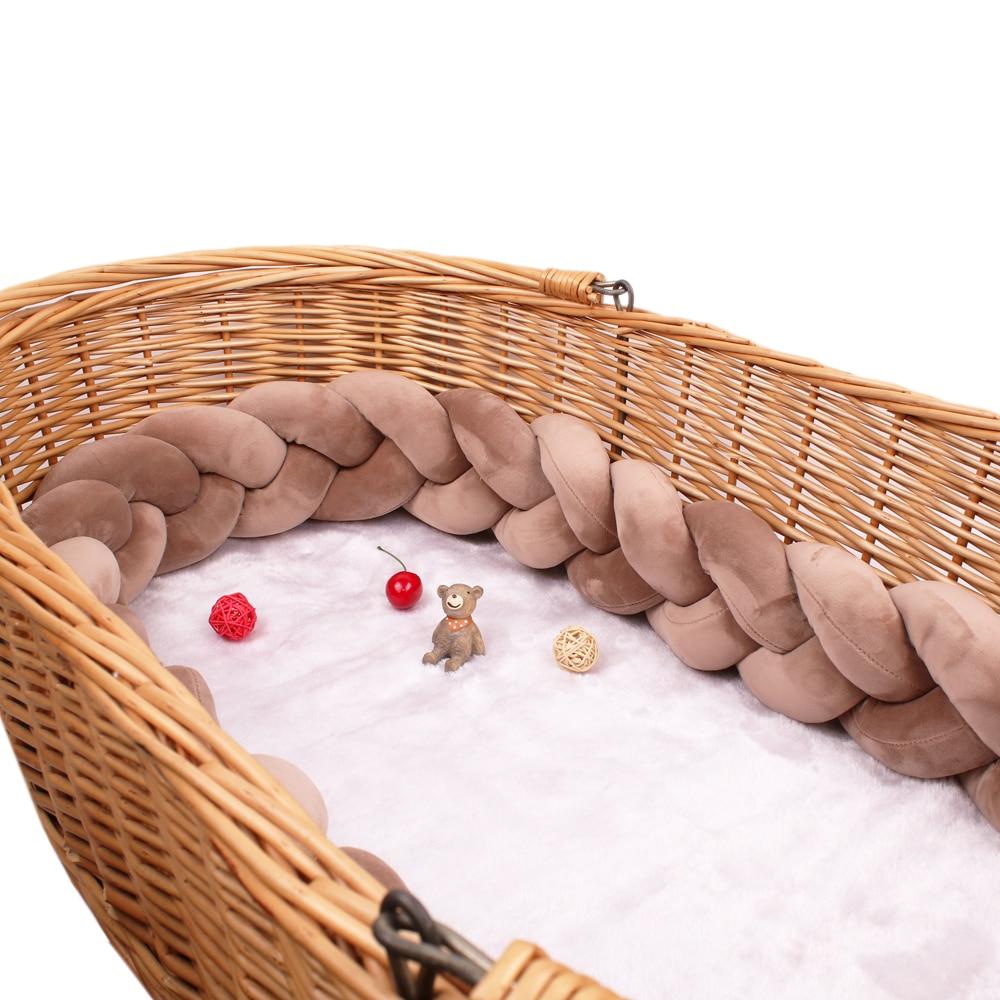 Mehrere Farbe Größen Bett Stoßstange Stoßfänger in der krippe Kinder Für Neugeborenen Baby Kissen Kissen Bett Zimmer Infant Knoten Dinge protector