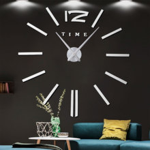 2019 New3D Luminous Big Wall Clock Rushed Mirror W