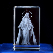 K9 кристалл 3D лазерная гравировка ремесла Девы Марии Кристиан Декор ковчег завет внутри резьба подарки церкви сувениры