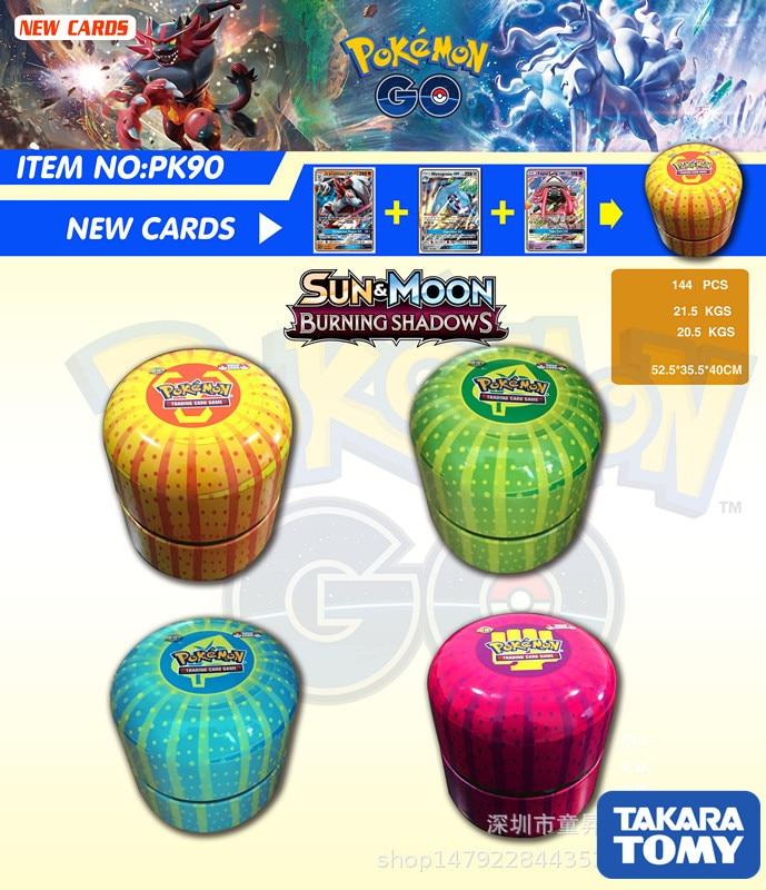 76PCS/BOX 4PCS Flash Cards GX MEGA TAKARA TOMY Pokemon Shining Cards Game Battle Carte Trading Cards Game Children Pokemons Toy