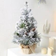 Рождественский домик украшения мини белая Рождественская елка искусственные свадебного стола с оленями и миниатюрный пейзаж 30/40 см