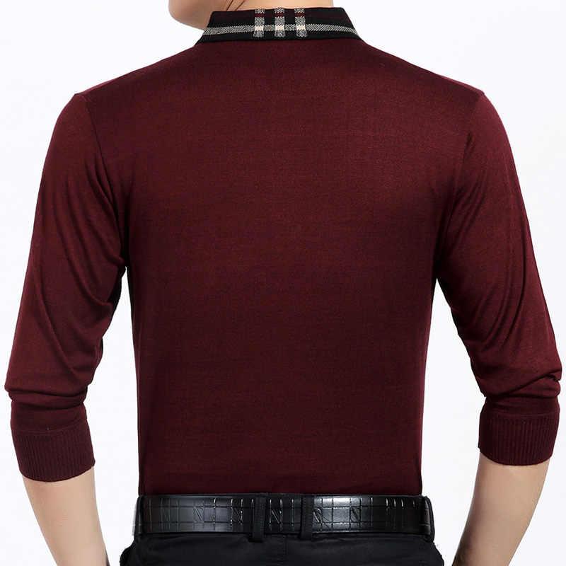 2019 브랜드 포켓 캐주얼 사회 솔리드 풀 오버 남자 스웨터 셔츠 저지 의류 당겨 스웨터 망 패션 남성 니트 718