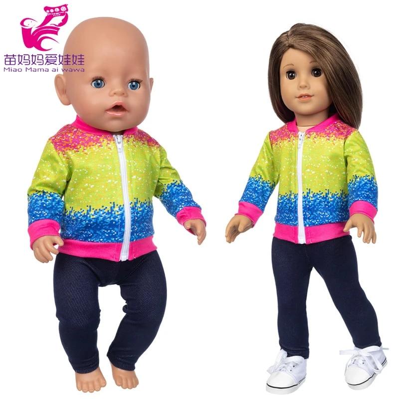 18 Inch Girl Doll Rainbow Tie Dye Graphic T-Shirt