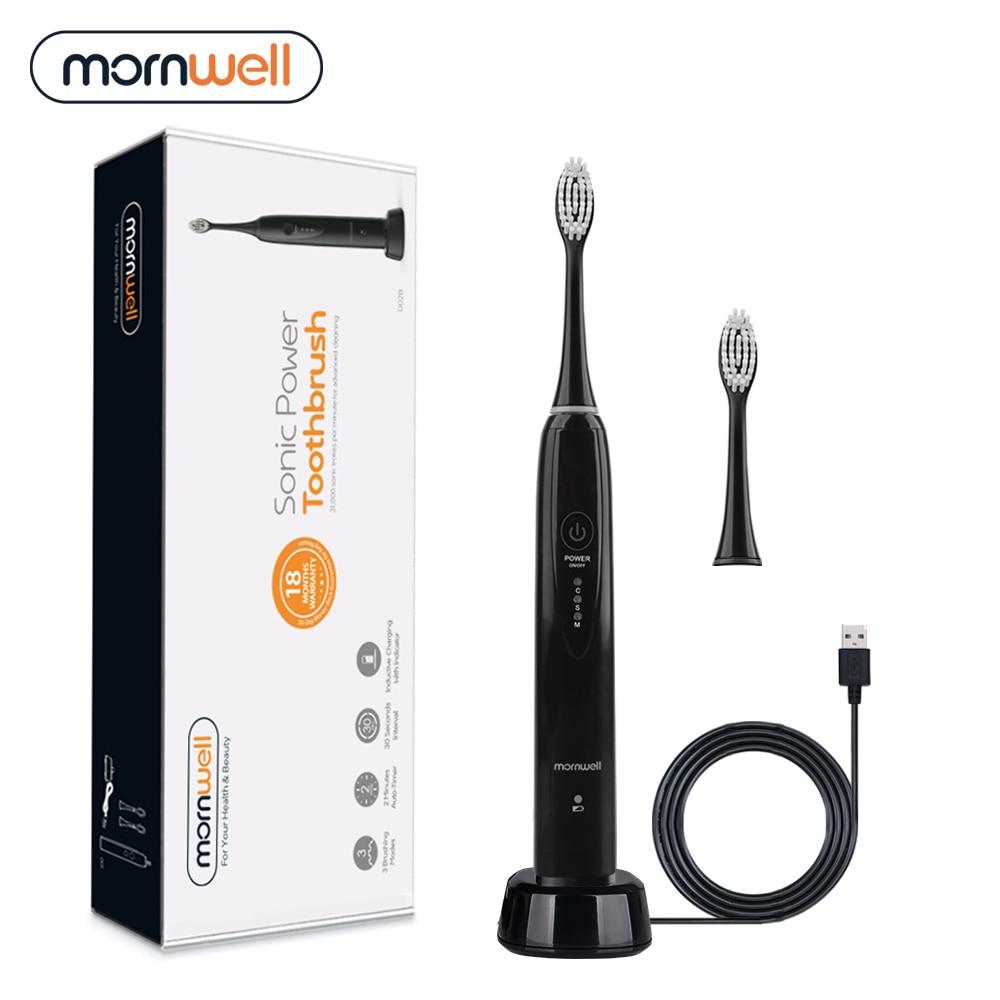 Sonic escova de dentes usb escova de dentes elétrica 2 substituível cabeça escova de dentes elétrica usb exigível adulto à prova dwaterproof água ipx7