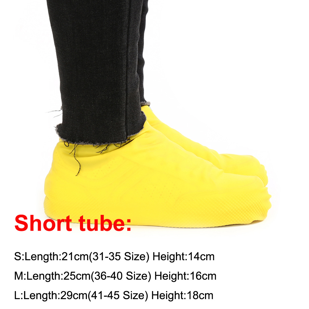 Waterproof Shoe Covers of Latex Material for Unisex to Protect Shoes from Dust and Mud in Rainy Days Suitable for Indoor and Outdoor 5
