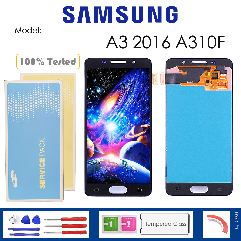 For <font><b>Samsung</b></font> Galaxy A3 2016 <font><b>A310F</b></font> <font><b>LCD</b></font> Display With Touch Sensor Glass Digitizer Assembly with kit image