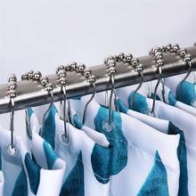 12 sztuk partia kurtyny haki aluminiowe zasłony prysznicowe pierścienie odporne na rdzę wygodne akcesoria do domu łazienka tanie tanio CN (pochodzenie) Aluminium 10 roller glide shower curtain hooks shower curtain rings