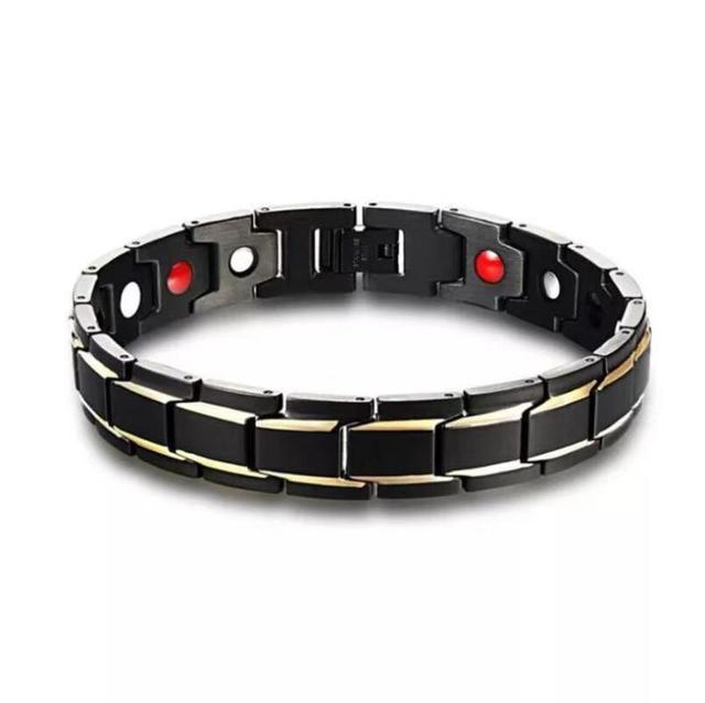 Homme Thérapie Magnétique Santé énergie Bracelet Titane Acier Perte de Poids Cadeau