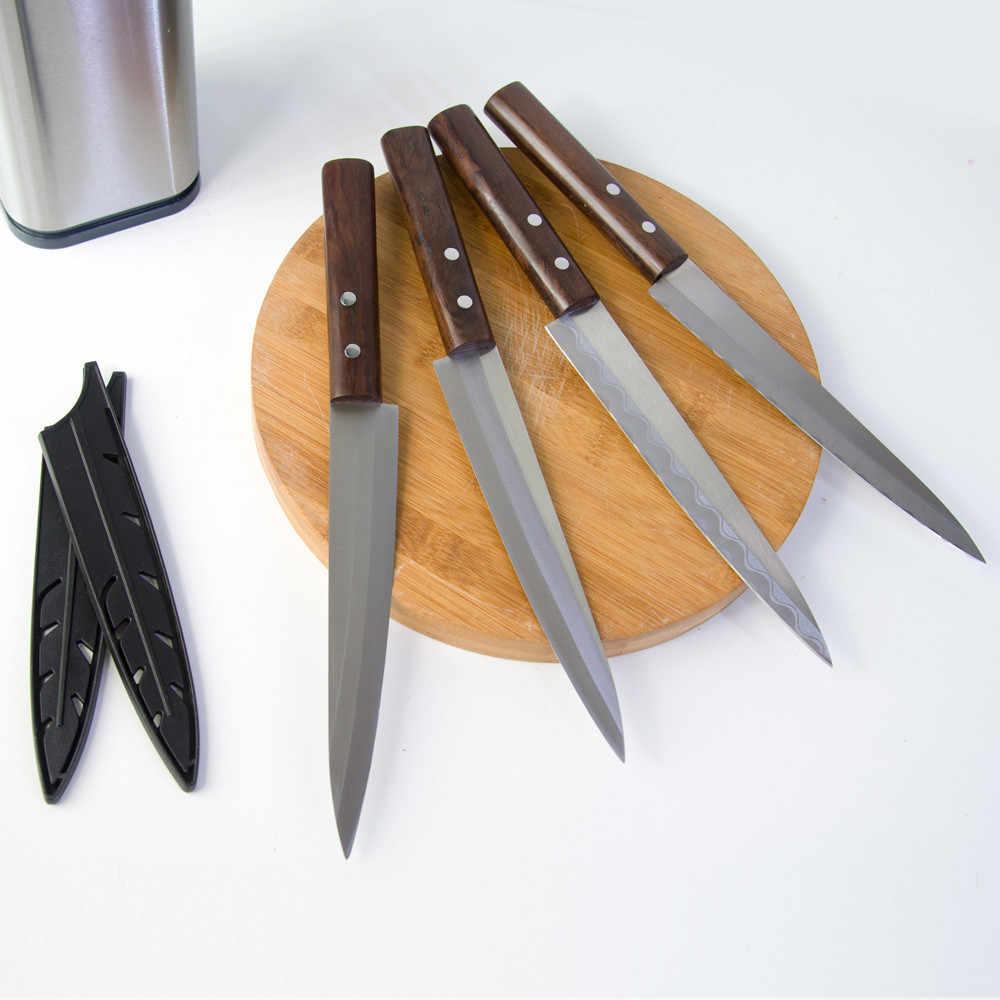 Nóż do filetów z ryb adamaszku 8 Cal japonia Sashimi miecz noże kuchenne łosoś ze stali nierdzewnej nóż do krojenia ryb z drewnianą rączką