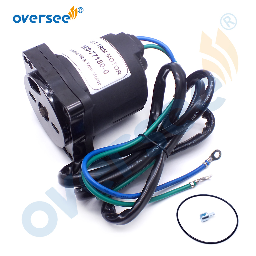 3E0-77180 Tilt Trim Motor For TOHATSU Outboard Motor Parts 4T 60-140HP 3E0-77180-0 3E0771800 2 Wires