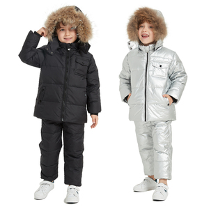 1-5Years Winter Jumpsuit for Children Baby Boy Girl Clothing Set Children parka Coat Baby Snowsuit Jacket for Girls Kids Clothes(China)