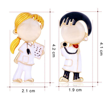 Brooches Medical-Medicine Gifts Nurse-Figure Enamel-Doctor Personality Women for Hospital