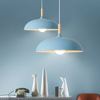 Free Shipping 350mm Pendant Lights Morden Blue Yellow Bulb and Height Adjustable