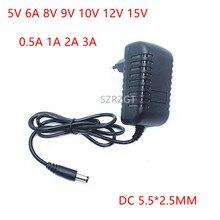 AC 110-240V DC 5V 6V 8V 9V 10V 12V 15V 0,5 1A 2A 3A Универсальный Мощность адаптер питания Зарядное устройство адаптер Eu/Us для Светодиодный осветительные полосы