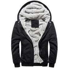 Bluza z kapturem z polaru zimowego dla mężczyzn dorywczo szczupła gruba ciepła kurtka wiatrówka Plus aksamitne bluzy z kapturem bluzy homem