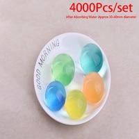 4000pcs/set Large Hydrogel Pearl Shaped Big 3-4cm Crystal Soil Water Beads Mud Grow Ball Wedding Growing Bulbs