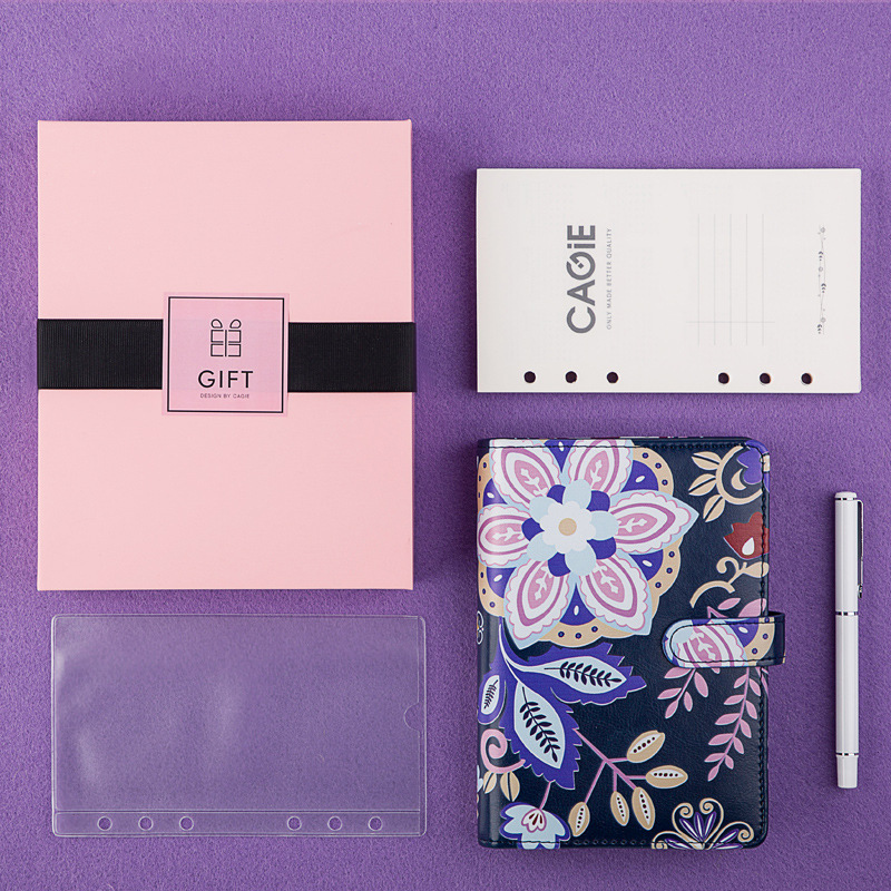 A6 Notebook Agendas Organizer Loose Leaf Book Account Set DIY Self Filling Calendar Diary Monthly Planner Notepad Stationery